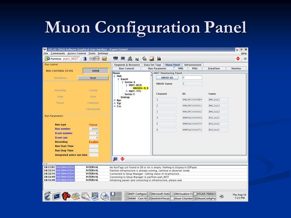 Muon Configuration Panel
