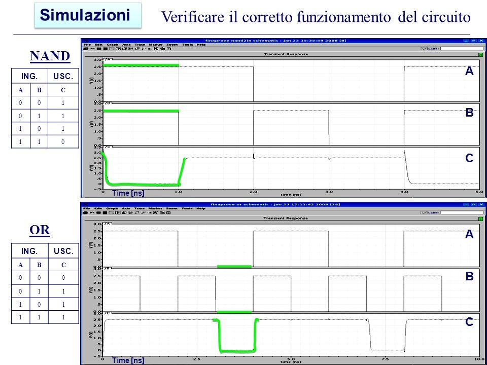 Verificare il corretto funzionamento del circuito NAND ING.USC.