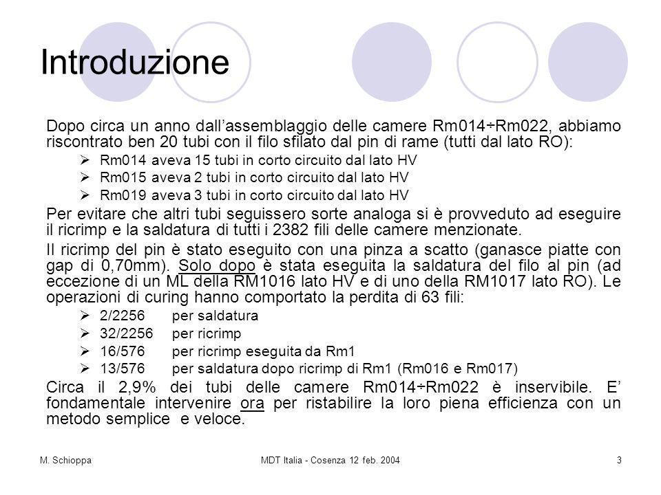 M. SchioppaMDT Italia - Cosenza 12 feb. 20044 Recrimp e saldatura pin Lato debole