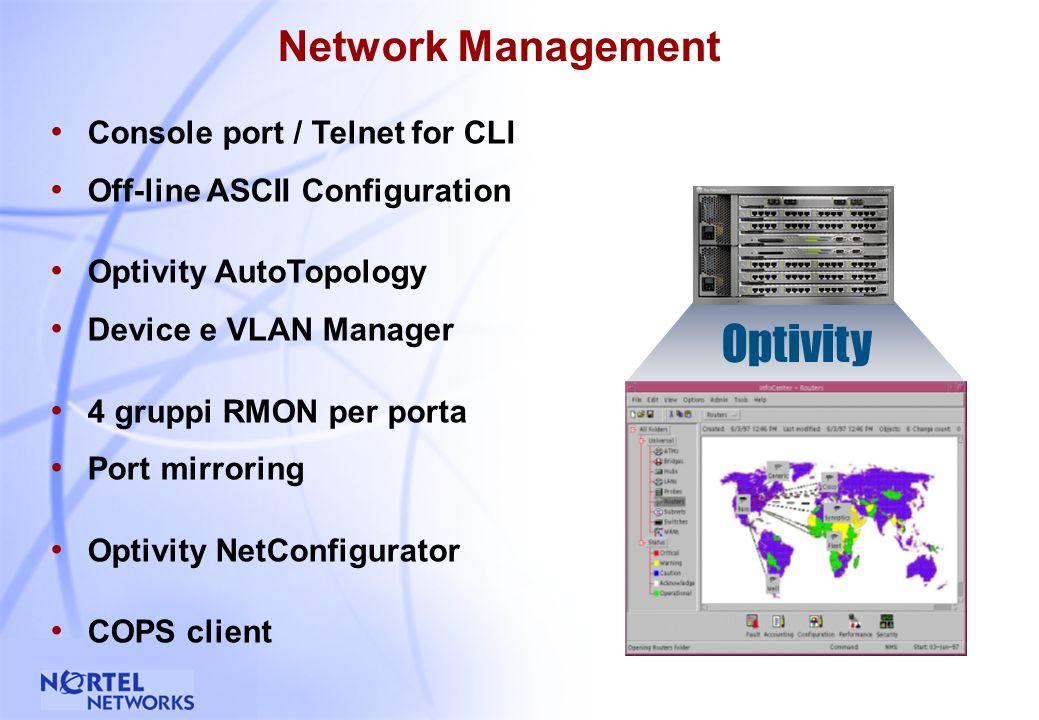 23 Accelar 1200/1250 Chassis modulare Schede opzionali multiple per ogni soluzione frame-based Interfacce Gigabit Ridondate con LinkSafe Ridondanza di switch fabric e alimentazione Configurazione massima 96 porte 10/100 autosensing (1200) 96 porte 100FX (1200) 12 porte 1000 Mbps (1200) Indicato per : Network Center di grandi dimensioni (1200) o medie dimensioni (1250) Desktop switching (L2) ad alta densita e ad alte prestazioni