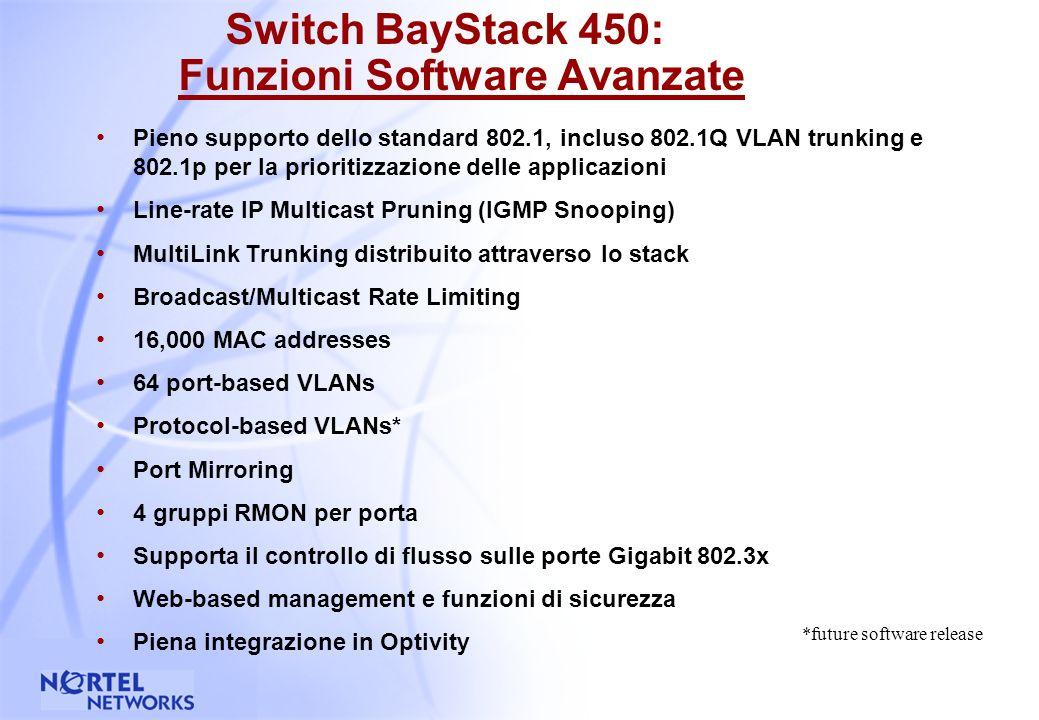 34 Il MultiLink Trunking garantisce aggregazione di banda e tolleranza ai guasti La connessione fra gli elementi dello Stack e la connessione verso il