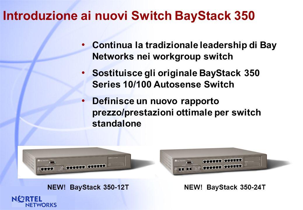 37 Introduzione ai nuovi Switch BayStack 350 10/100/1000 NEW.