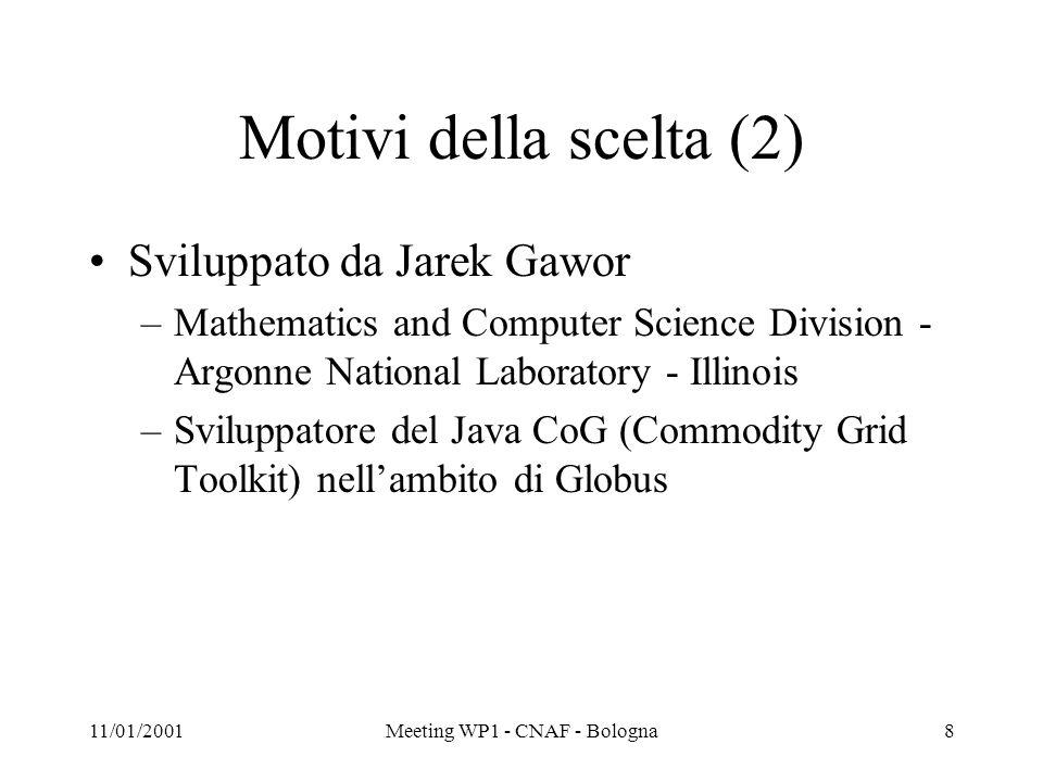 11/01/2001Meeting WP1 - CNAF - Bologna9 DEMO