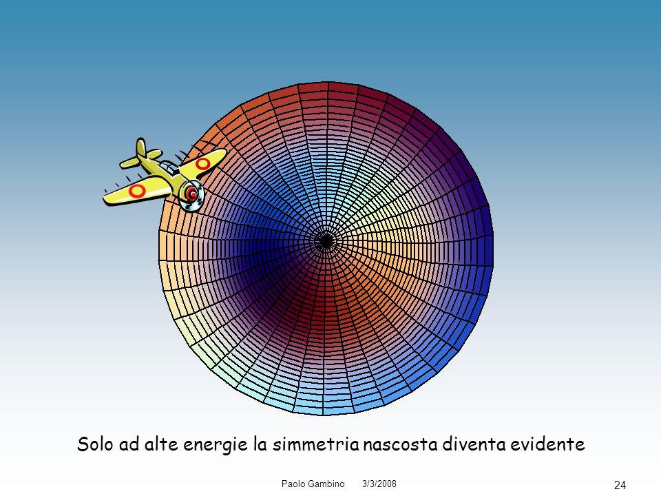 Paolo Gambino 3/3/2008 24 Solo ad alte energie la simmetria nascosta diventa evidente