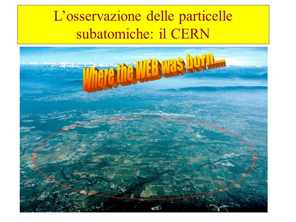 Losservazione delle particelle subatomiche: il CERN
