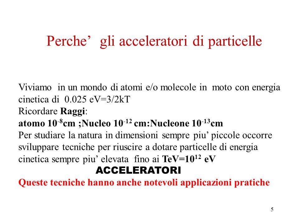 16 Limiti degli acceleratori circolari Una particella carica che si muove su una traiettoria circolare e sottoposta alla accelerazione centripeta.