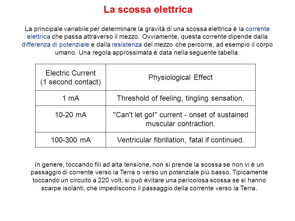 La principale variabile per determinare la gravità di una scossa elettrica è la corrente elettrica che passa attraverso il mezzo. Ovviamente, questa c