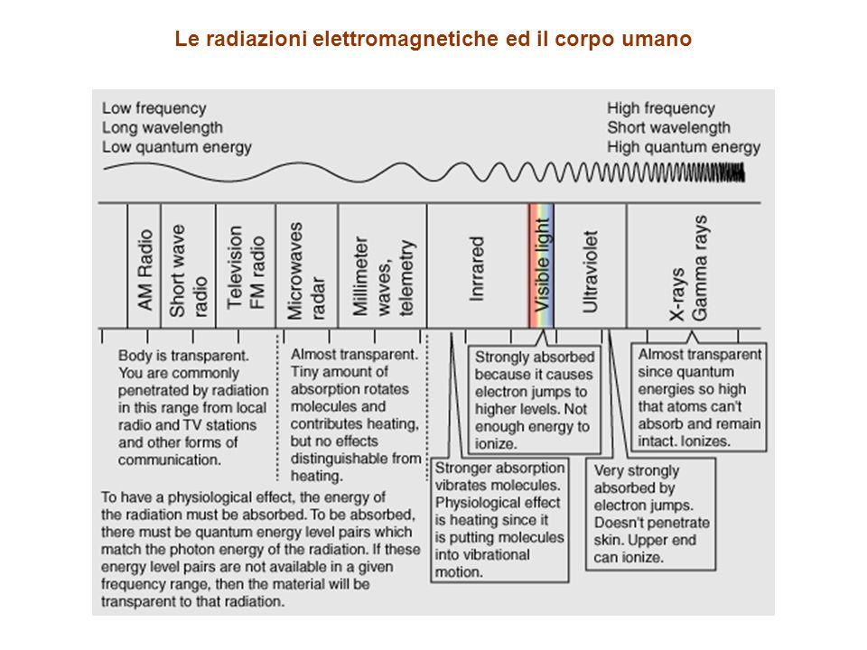 Le radiazioni elettromagnetiche ed il corpo umano