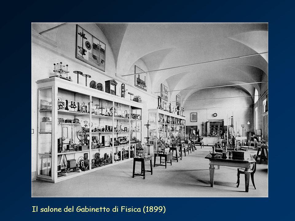Il salone del Gabinetto di Fisica (1899)