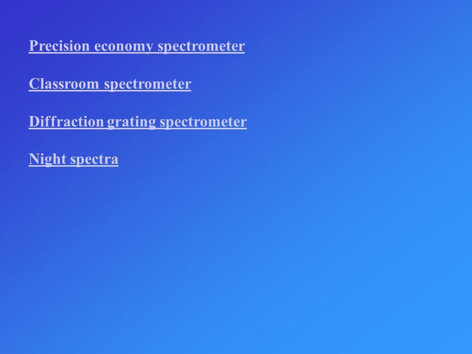 Precision economy spectrometer Classroom spectrometer Diffraction grating spectrometer Night spectra