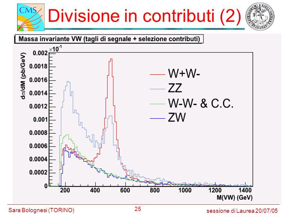 25 Divisione in contributi (2) sessione di Laurea 20/07/05 Sara Bolognesi (TORINO)