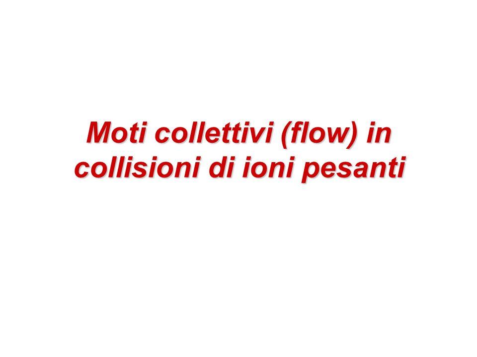 62 Conclusioni Nelle collisioni di ioni a energie relativistiche (RHIC e LHC in particolare) si è osservato: Un forte elliptic flow Levoluzione idrodinamica di un fluido ideale riproduce i valori osservati e la dipendenza dalla massa delle particelle dellelliptic flow adoperando unequazione di stato con una transizione di fase dal QGP a un gas di adroni Lelliptic flow è uno dei pezzi di puzzle usati per affermare nel 2005 che in collisioni AuAu a RHIC si forma uno Strongly interacting QGP (sQGP) La fireball raggiunge rapidamente lequilibrio termico ( equ 0.6-1 fm/c) Si osserva un comportamento da liquido perfetto libero cammino medio << dimensioni del sistema E viscosità 0 Note: Ci sono indizi che fanno pensare a una termalizzazione incompleta (early viscosity) o alla presenza di effetti dissipativi nella fase adronica (late viscosity) La viscosita e sicuramente exceptionally low, ma la stima del valore di viscosita e affetta da incertezze perche a seconda delle condizioni iniziali (puro Glauber vs.