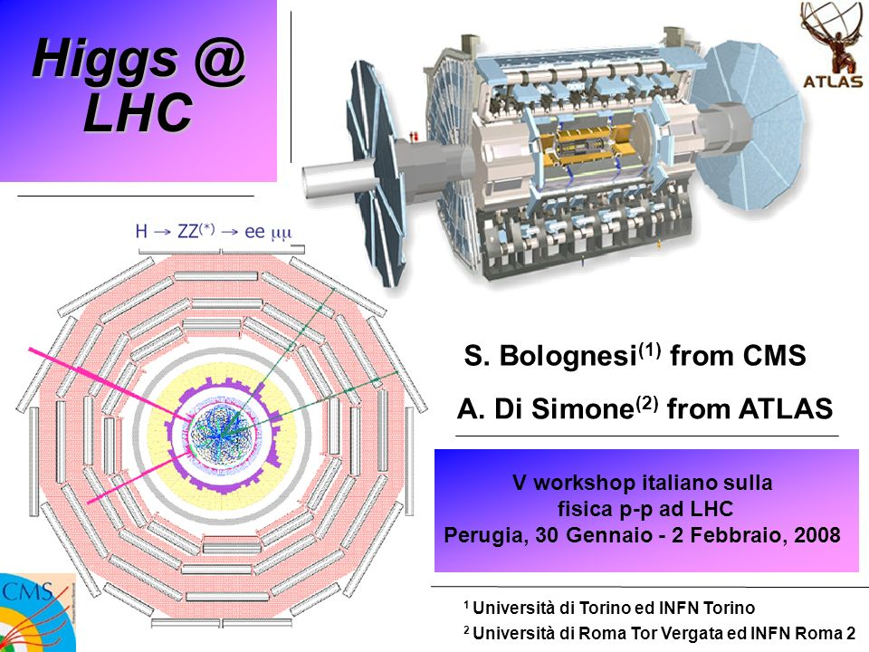 HVV channels 12 V workshop italiano su LHC - Perugia Andrea Di Simone - ATLAS Roma For M H >130 GeV, HVV most promising channels: effectiveness of ZZ and WW channels follows closely the BR shape m H 150 high ZZ BR and low backgrounds m H 170 low ZZ BR while HWW turns on m H 200 strong enhancement of ZZ BR for m H > 2m Z (suppression of WW) m H > 350 lower signal xsec and BR (due to Htt) VBF VVVV interesting per se as a probe of EWSB mechanism: Higgs in s-channel mass peak no Higgs SM unitarity violation
