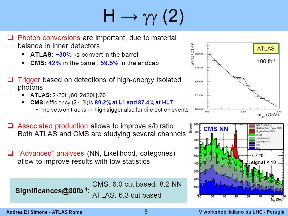 H (M H 130 GeV) ATLAS performing studies on all final states (ll, lh, hh), while CMS focused in the recent past on lh decay channel.