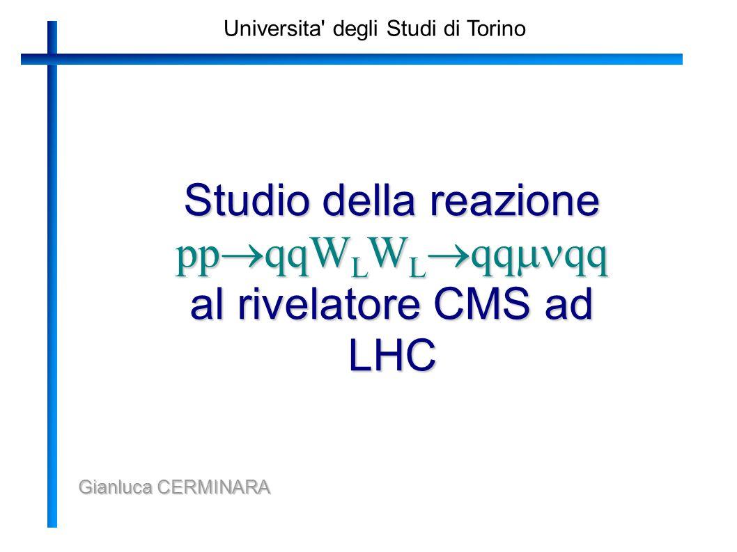 Universita degli Studi di Torino Studio della reazione pp qqW L W L qq qq al rivelatore CMS ad LHC Gianluca CERMINARA