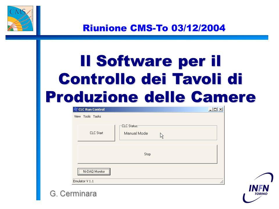 Il Software per il Controllo dei Tavoli di Produzione delle Camere G.