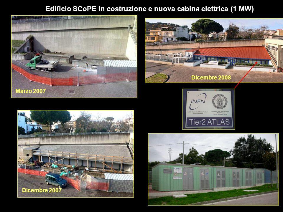 Edificio SCoPE in costruzione e nuova cabina elettrica (1 MW) Dicembre 2008 Marzo 2007 Dicembre 2007