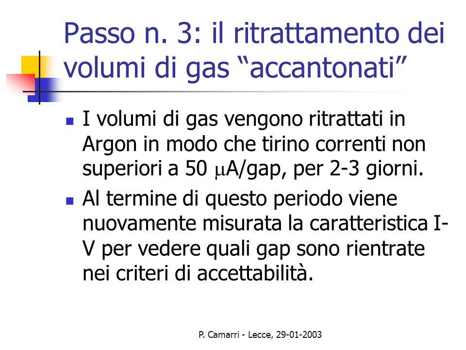 P. Camarri - Lecce, 29-01-2003 Passo n.