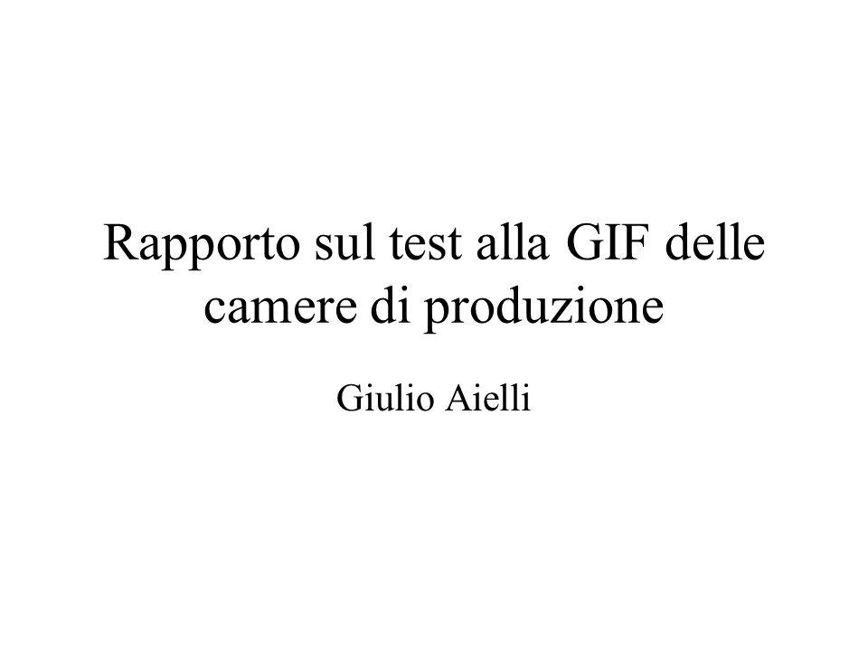 Rapporto sul test alla GIF delle camere di produzione Giulio Aielli