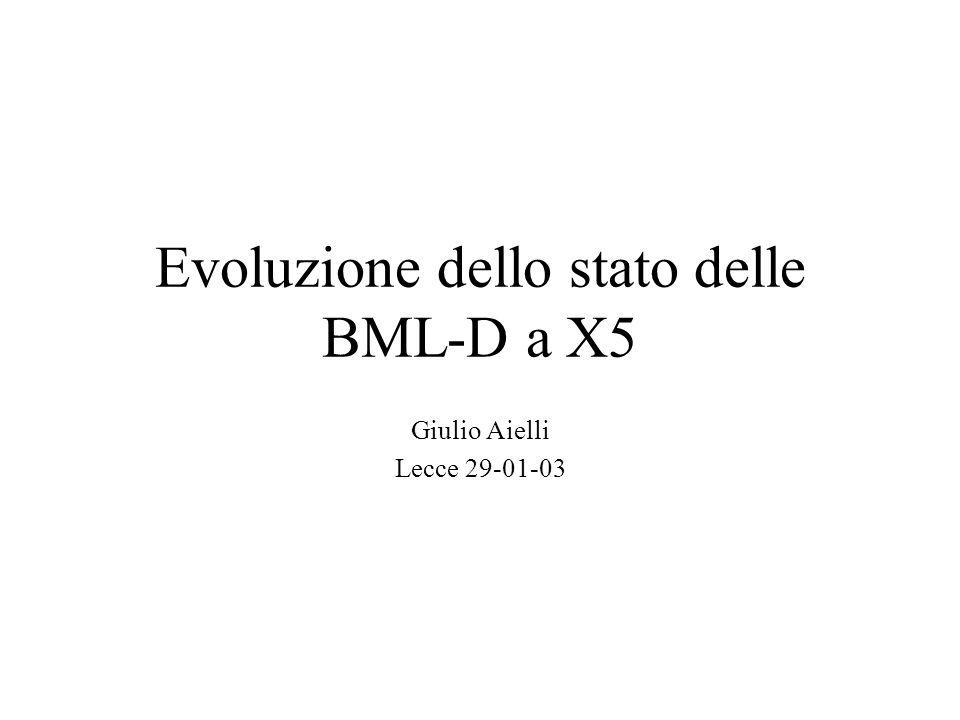 Evoluzione dello stato delle BML-D a X5 Giulio Aielli Lecce 29-01-03