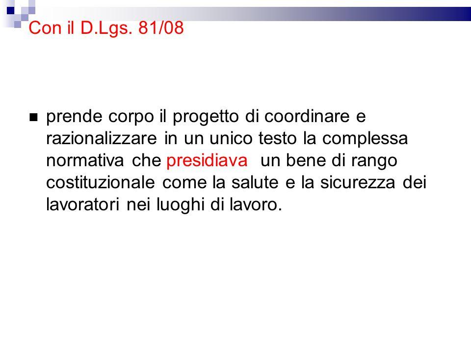 Struttura complessiva Articoli: 306 Titoli: XIII Allegati: LII (compreso 3A, 3B) Titoli: I -Disposizioni generali Titoli: II -Luoghi di lavoro Titoli: III –Attrezz.