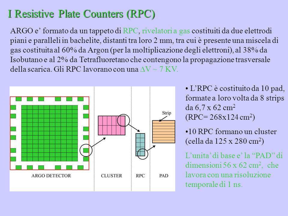 I Resistive Plate Counters (RPC) ARGO e formato da un tappeto di RPC, rivelatori a gas costituiti da due elettrodi piani e paralleli in bachelite, dis