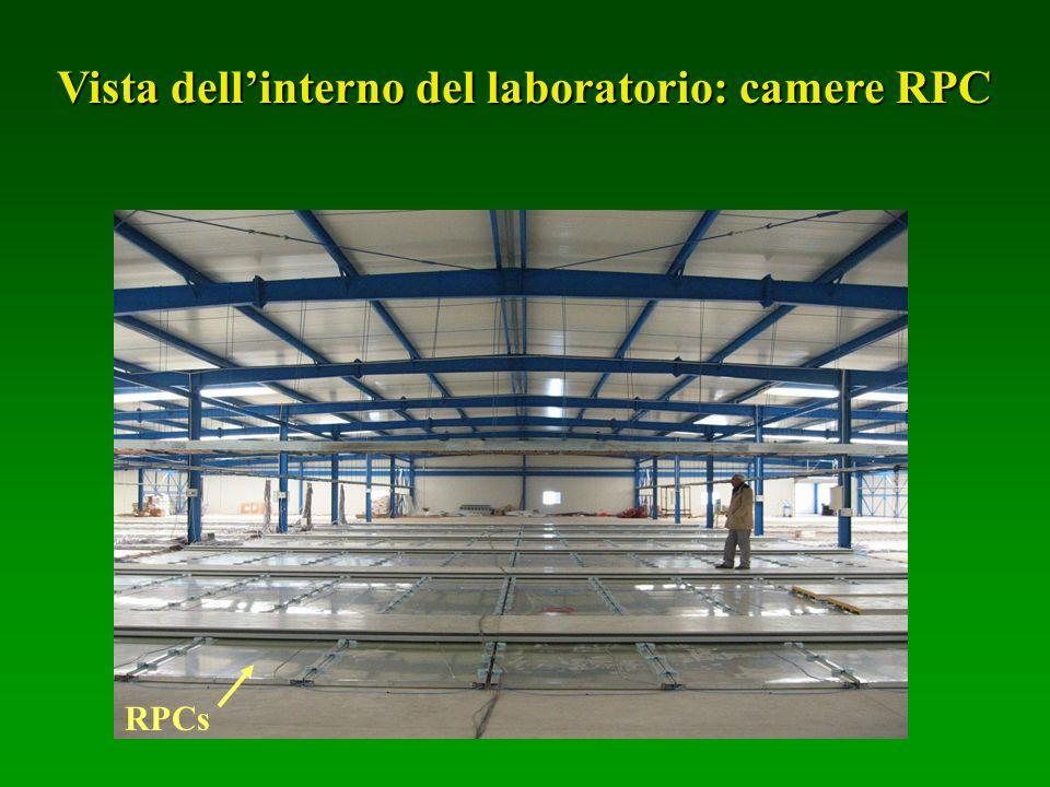 RPCs Vista dellinterno del laboratorio: camere RPC