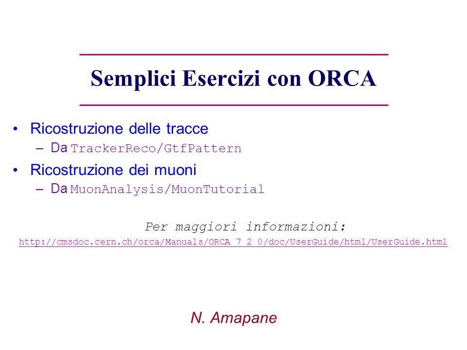 Semplici Esercizi con ORCA N.