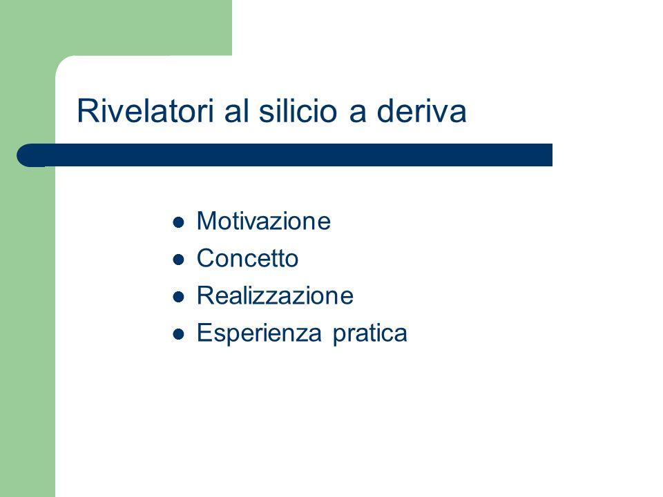 Rivelatori al silicio a deriva Motivazione Concetto Realizzazione Esperienza pratica