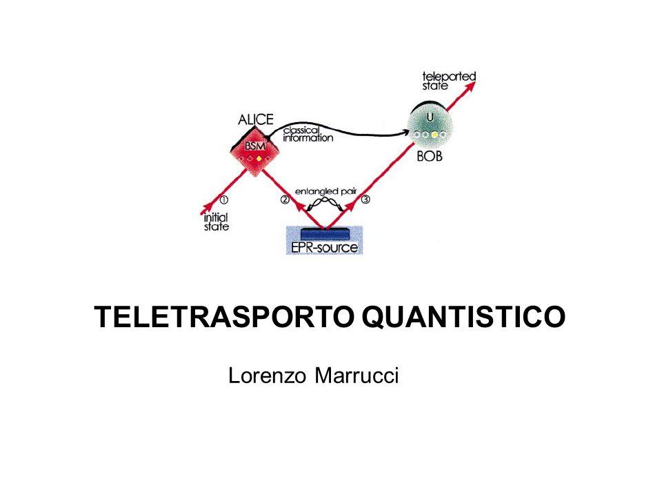 TELETRASPORTO QUANTISTICO Lorenzo Marrucci