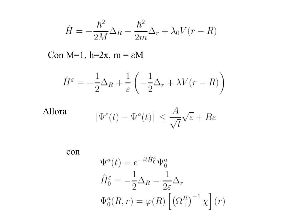 Con M=1, h=2π, m = M Allora con