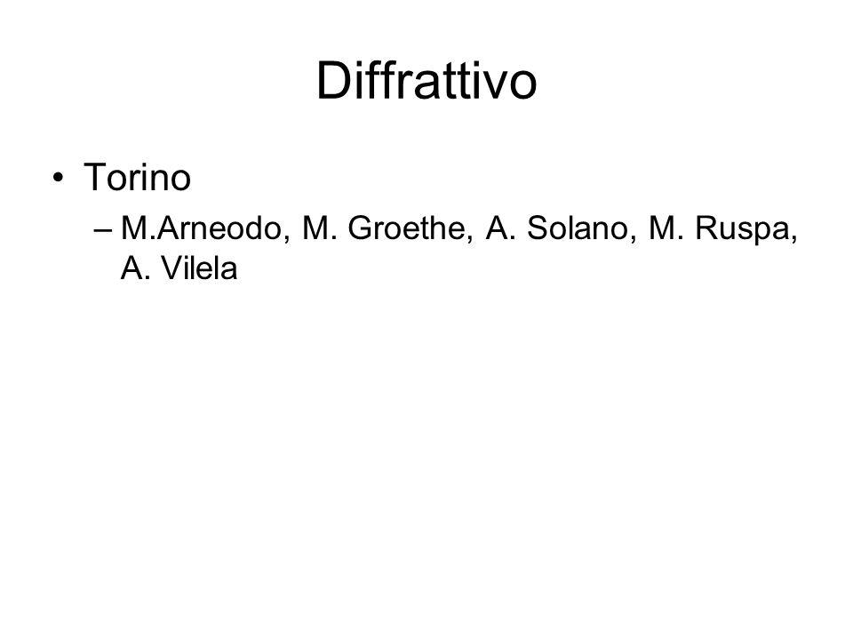 Diffrattivo Torino –M.Arneodo, M. Groethe, A. Solano, M. Ruspa, A. Vilela