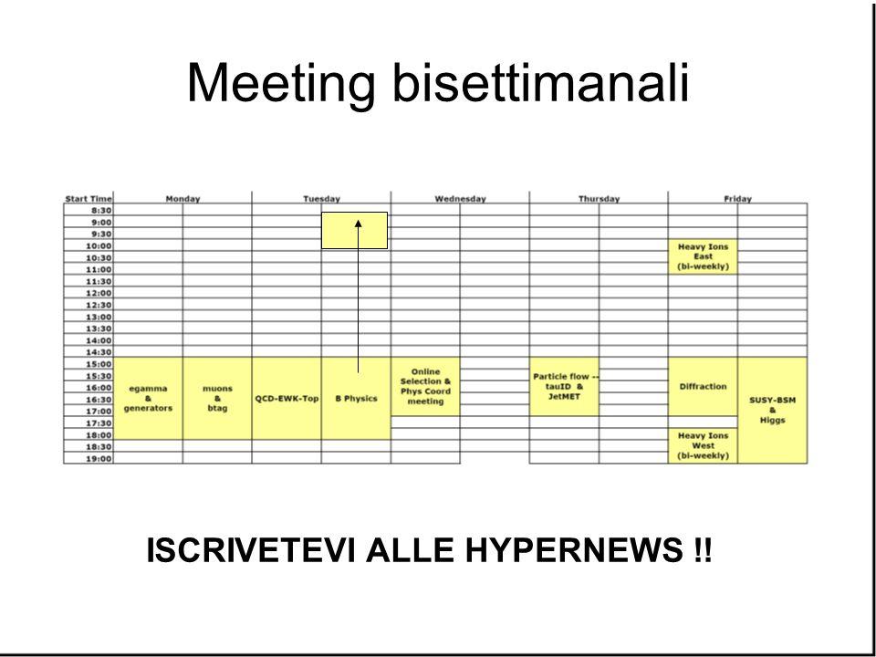 Meeting bisettimanali ISCRIVETEVI ALLE HYPERNEWS !!