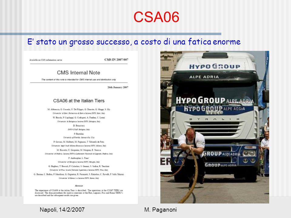 Napoli, 14/2/2007M. Paganoni CSA06 E stato un grosso successo, a costo di una fatica enorme