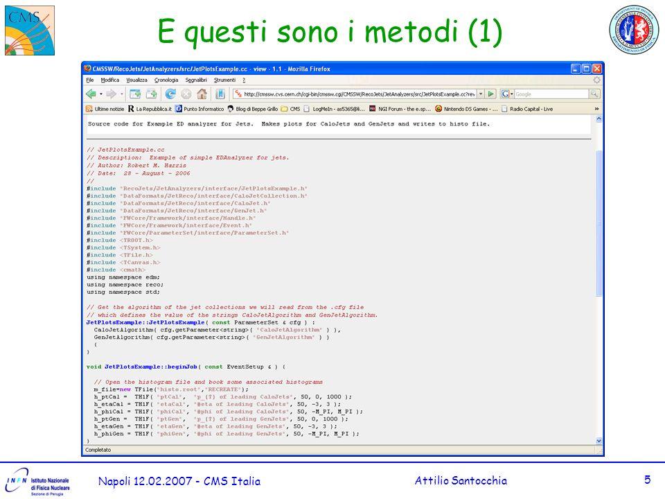 Napoli 12.02.2007 - CMS Italia Attilio Santocchia 6 E questi sono i metodi (2)