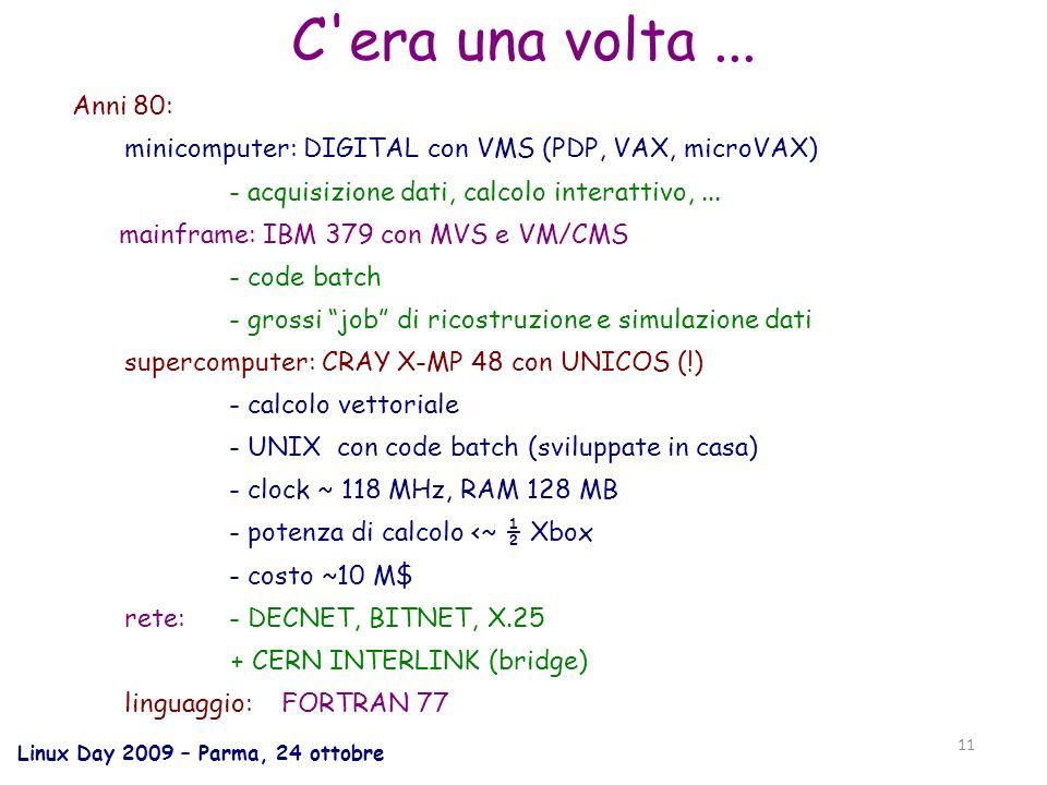 Linux Day 2009 – Parma, 24 ottobre 11 C era una volta...