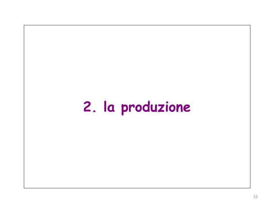 Parma, 19 novembre 2011 16 2. la produzione