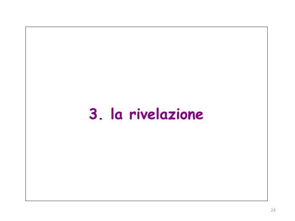 Parma, 19 novembre 2011 24 3. la rivelazione