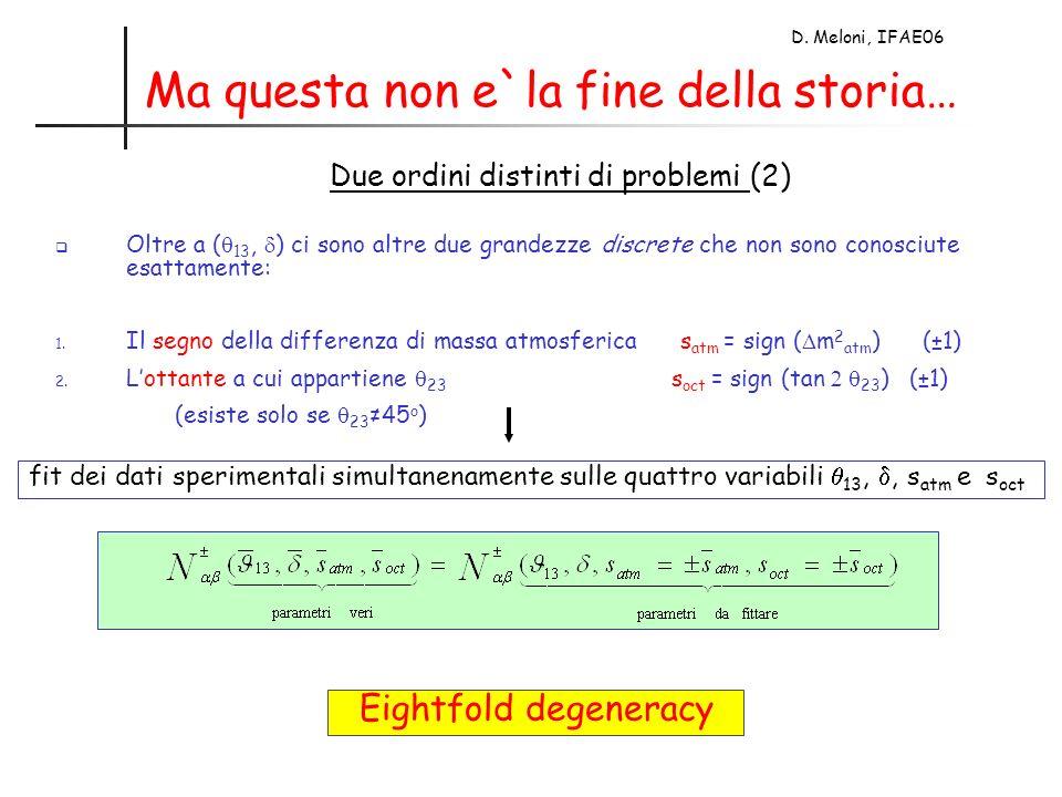 D. Meloni, IFAE06 Ma questa non e`la fine della storia… Oltre a ( 13, ) ci sono altre due grandezze discrete che non sono conosciute esattamente: 1. I