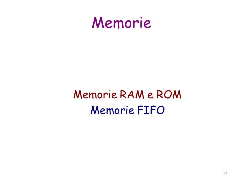 40 Reti Sequenziali (FSM) Sistema con memoria e stati - sincrono o asincrono - uscita (U) dipende da ingresso (I) e stato presente (S)