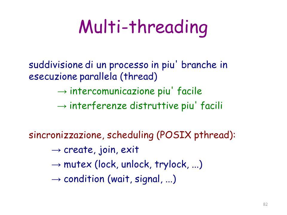 83 Multi-core CPU (un core == una unita di processamento) velocita CPU limitata dal dissipamento: potenza = a*(freq clock) 2 scappatoia(!): + core su di un singolo chip 2-3-4-6-8-...