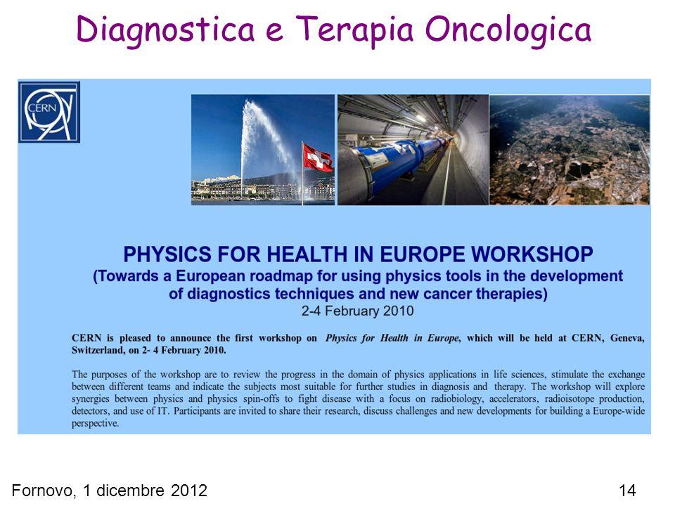 Fornovo, 1 dicembre 2012 14 Diagnostica e Terapia Oncologica