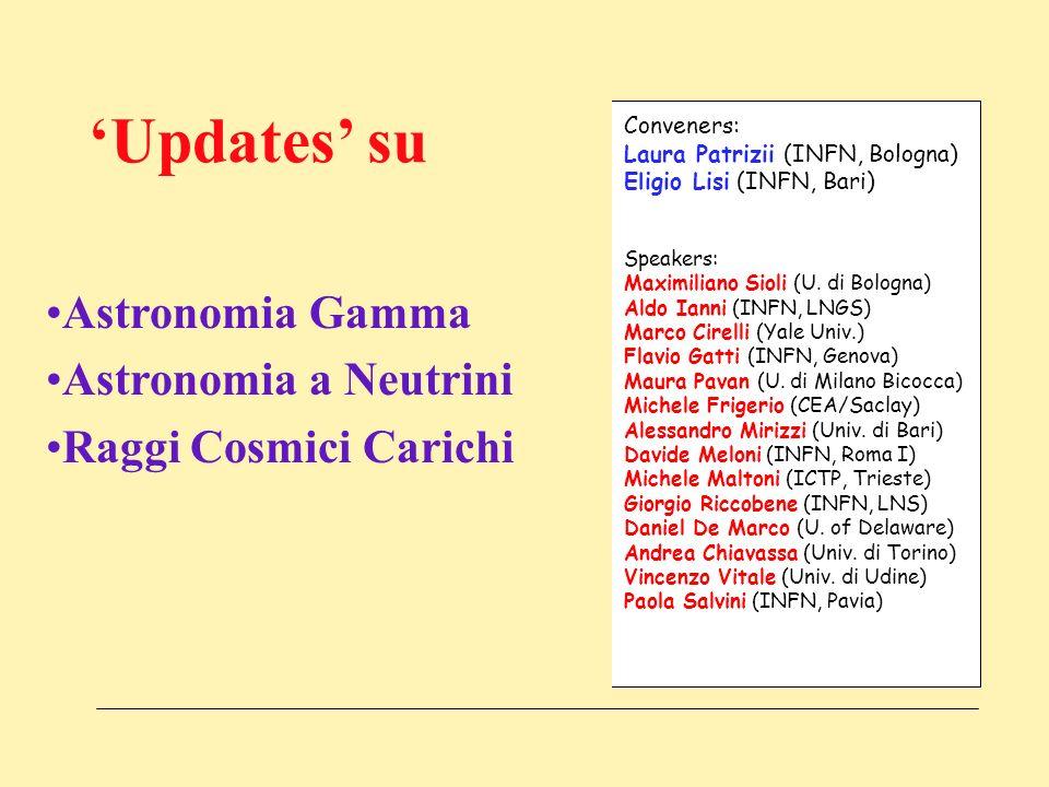 IFAE 06, Pavia, 19-21 Aprile 2006 Sommario della Sessio Neutrini e Conveners: Laura Patrizii (INFN, Bologna) Eligio Lisi (INFN, Bari) Speakers: Maximiliano Sioli (U.