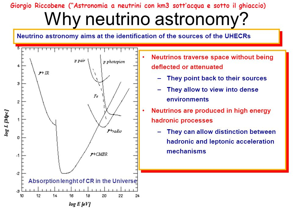 Why neutrino astronomy.