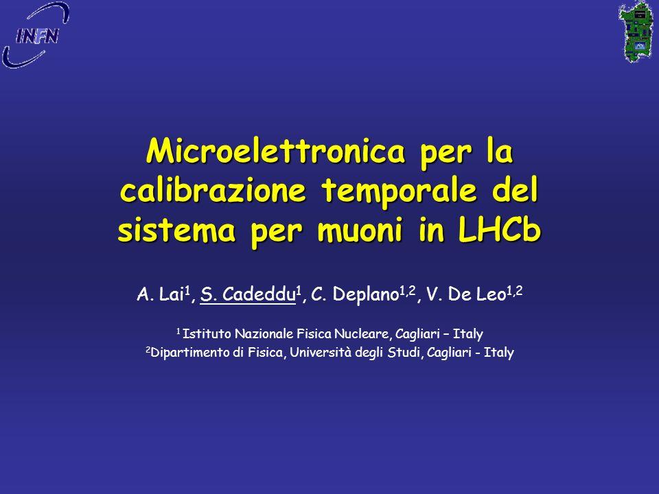 Microelettronica per la calibrazione temporale del sistema per muoni in LHCb A.
