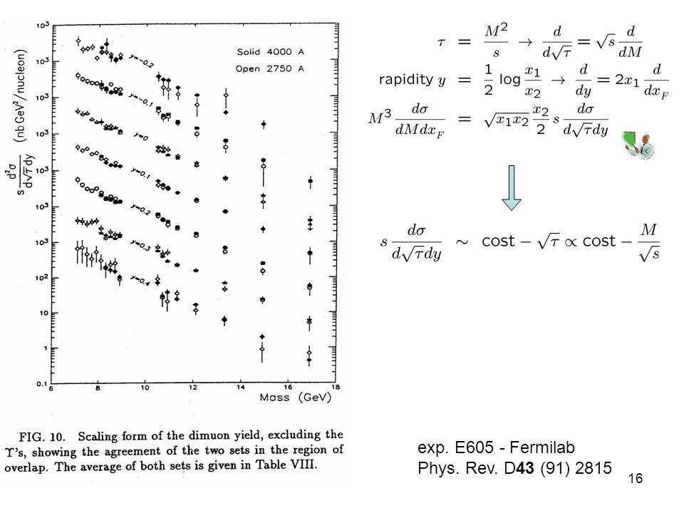 03-Dic-1016 exp. E605 - Fermilab Phys. Rev. D43 (91) 2815
