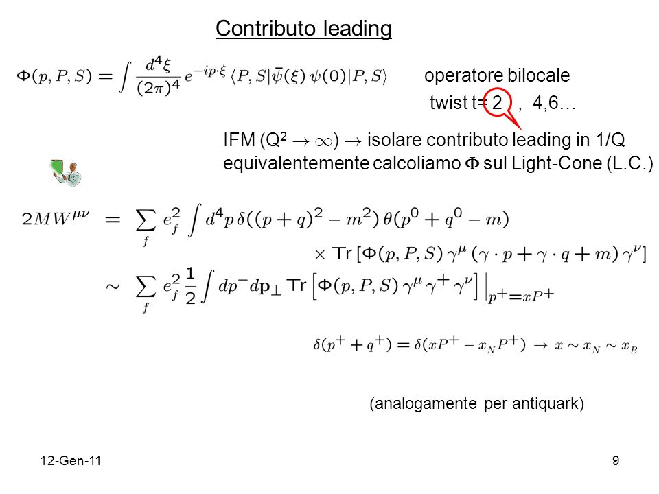 12-Gen-119 operatore bilocale twist t= 2, 4,6… IFM (Q 2 .