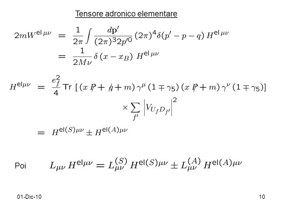 01-Dic-1010 Tensore adronico elementare Poi