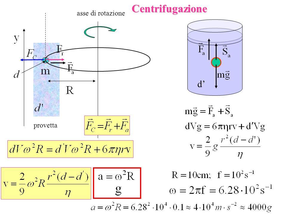 provetta asse di rotazioneCentrifugazione d