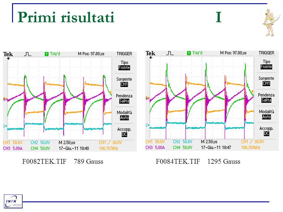 Primi risultatiI F0082TEK.TIF 789 Gauss F0084TEK.TIF 1295 Gauss